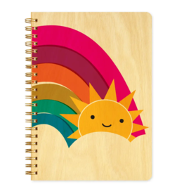 Happy Sun Wood Journal