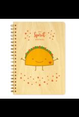 Taco Spirit Animal Wood Journal