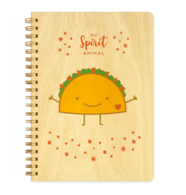 Taco Spirit Animal Wood Journal