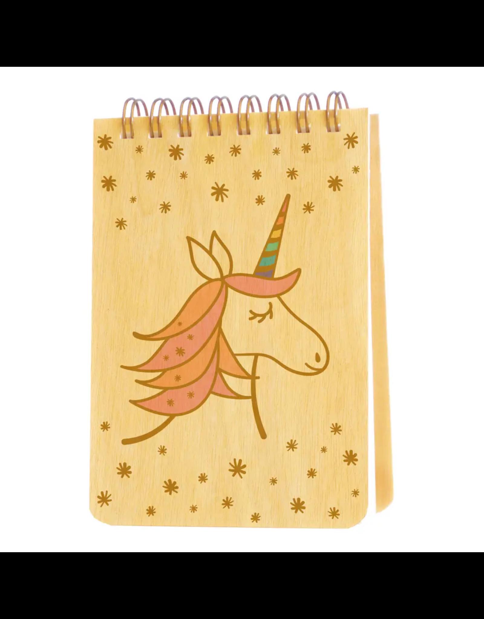Magical Unicorn Wood Mini Notepad
