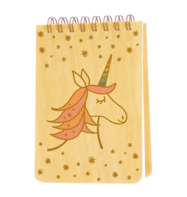 Magical Unicorn Wood Mini Notepad