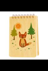 Fox Wood Mini Notepad