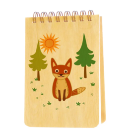 Fox Wood Mini Notepad