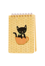 Cuppa Kitty Wood Mini Notepad