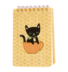 Cuppa Kitty Wood Mini Notepad
