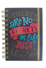 No Regrets Wire Notebook with Band