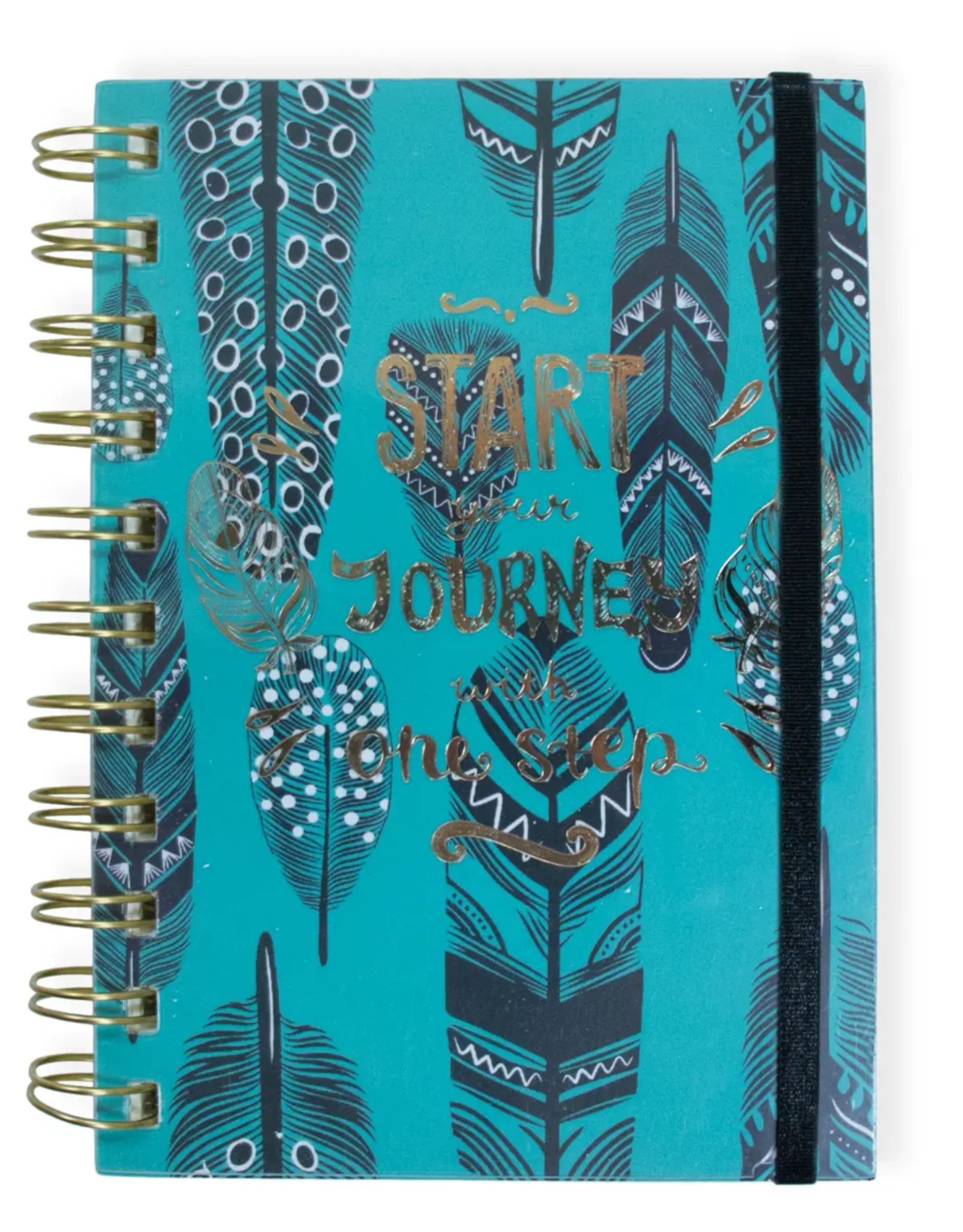 Start Your Journey Wire Notebook with Band