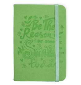 Smile Embossed Green Journal