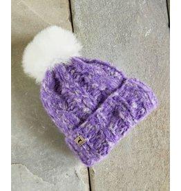 Marshmallow Trenza Alpaca Hat - Lavender