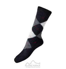 Alpaca Argyle Unisex Dress Socks