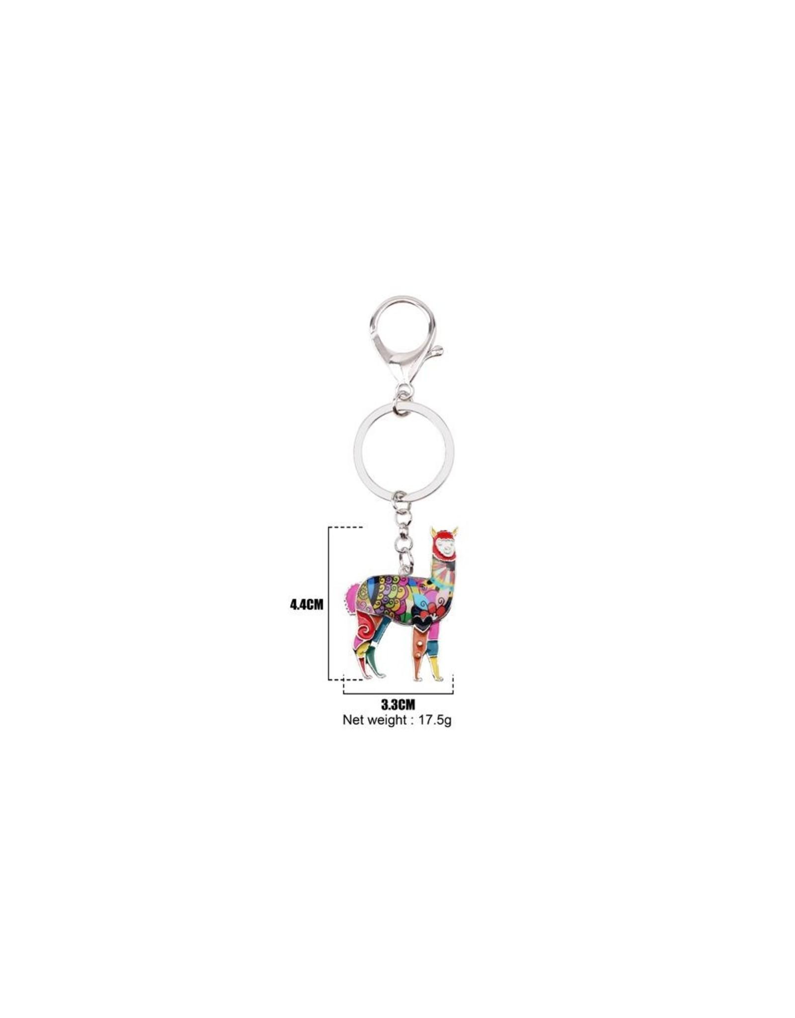 Alpaca Keychain Charm