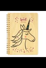 Unicorn Spirit Animal Wood Journal
