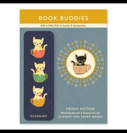 Frisky Fiction Gift Set - Bookmark & Enamel Pin