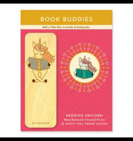 Reading Unicorn Gift Set - Bookmark and Enamel Pin