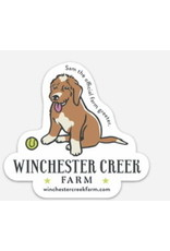 Sam the Farm Greeter Vinyl Sticker
