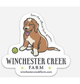 Sam the Farm Greeter Vinyl Sticker