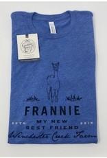 Frannie Blue Tri Blend Shirt- Adult