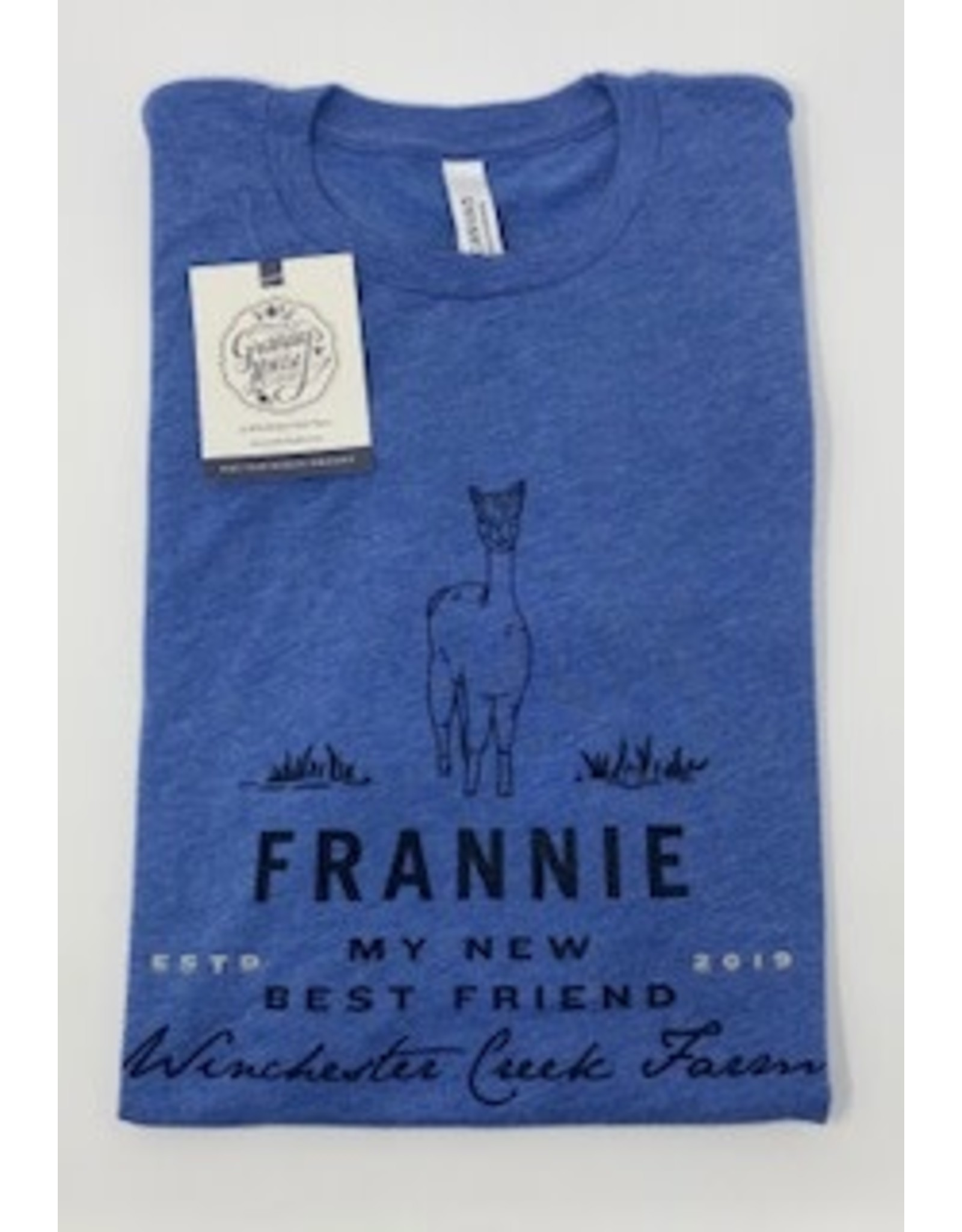 Frannie Blue Tri Blend T-Shirt- Adult