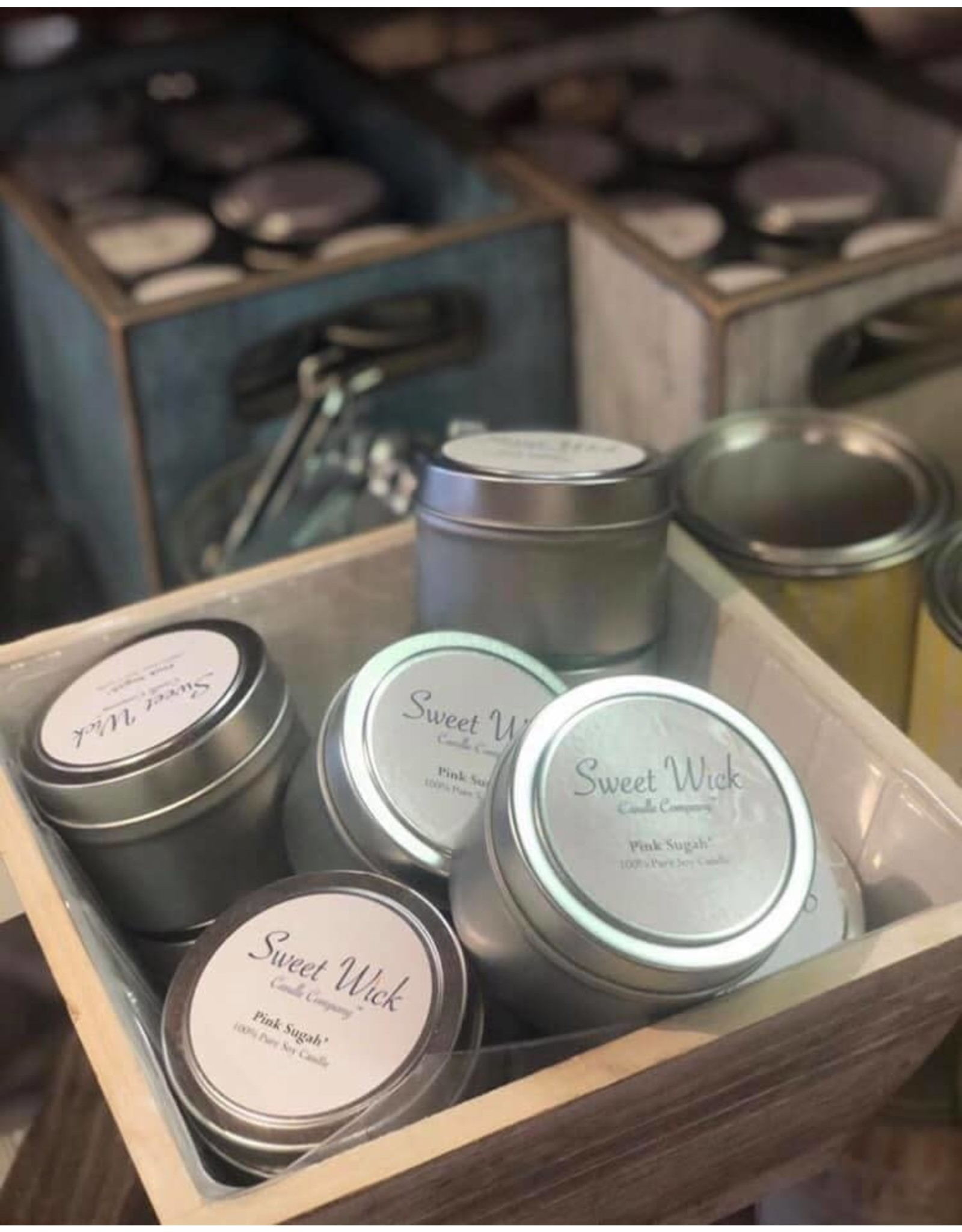 Sweet Wick Candle Travel Tin Candle-Cucumber Melon