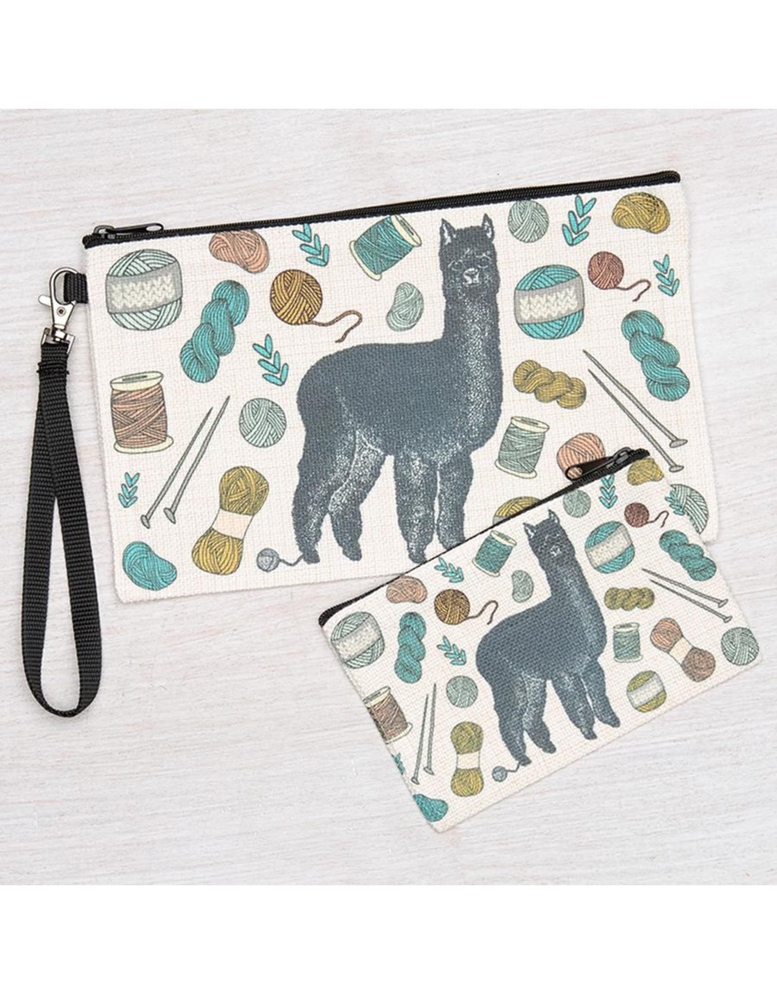 Counter Couture Alpaca Zipper Pouch-Large
