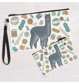 Alpaca Zipper Pouch-Large