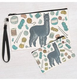 Counter Couture Alpaca Zipper Pouch-Large