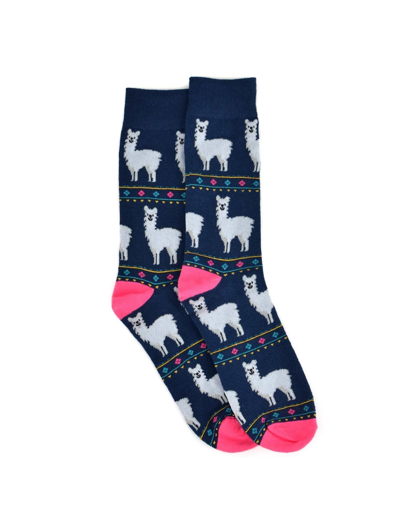 Selini New York Alpaca Men's Socks-Navy