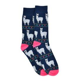 Alpaca Men's Socks-Navy