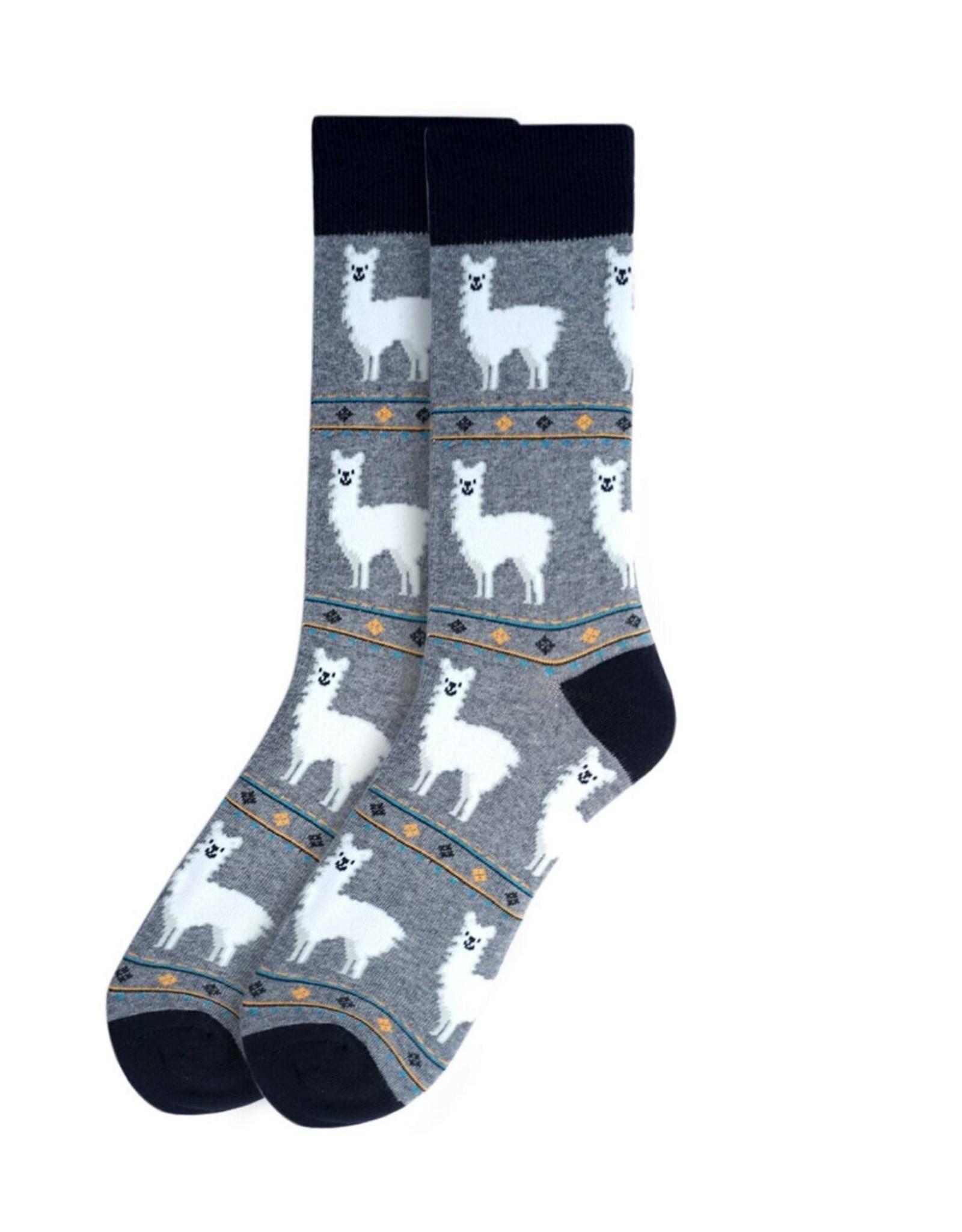 Alpaca Men's Sock-Grey