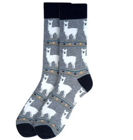 Selini New York Alpaca Men's Sock-Grey