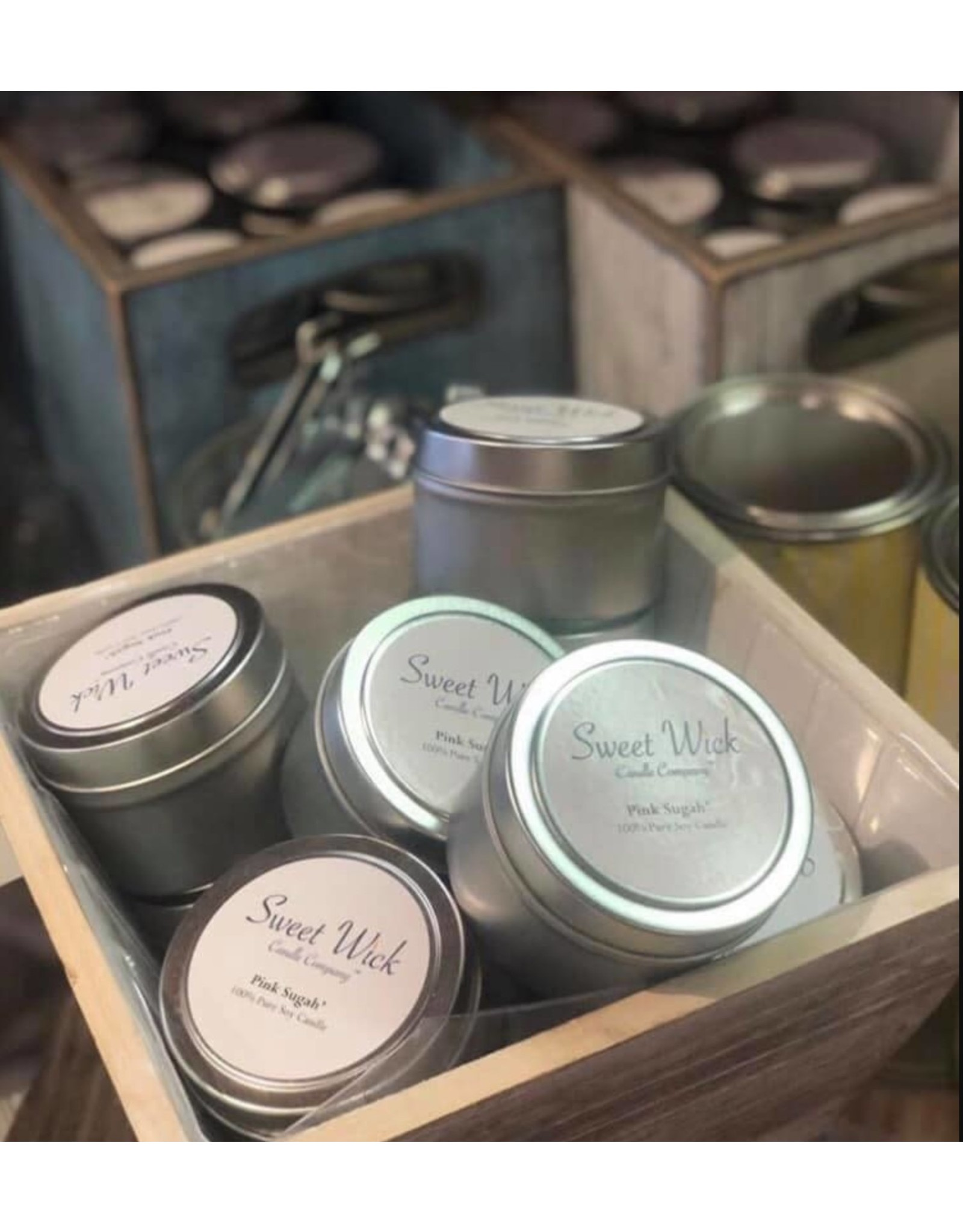 Sweet Wick Candle Travel Tin Candle-Barn Wood