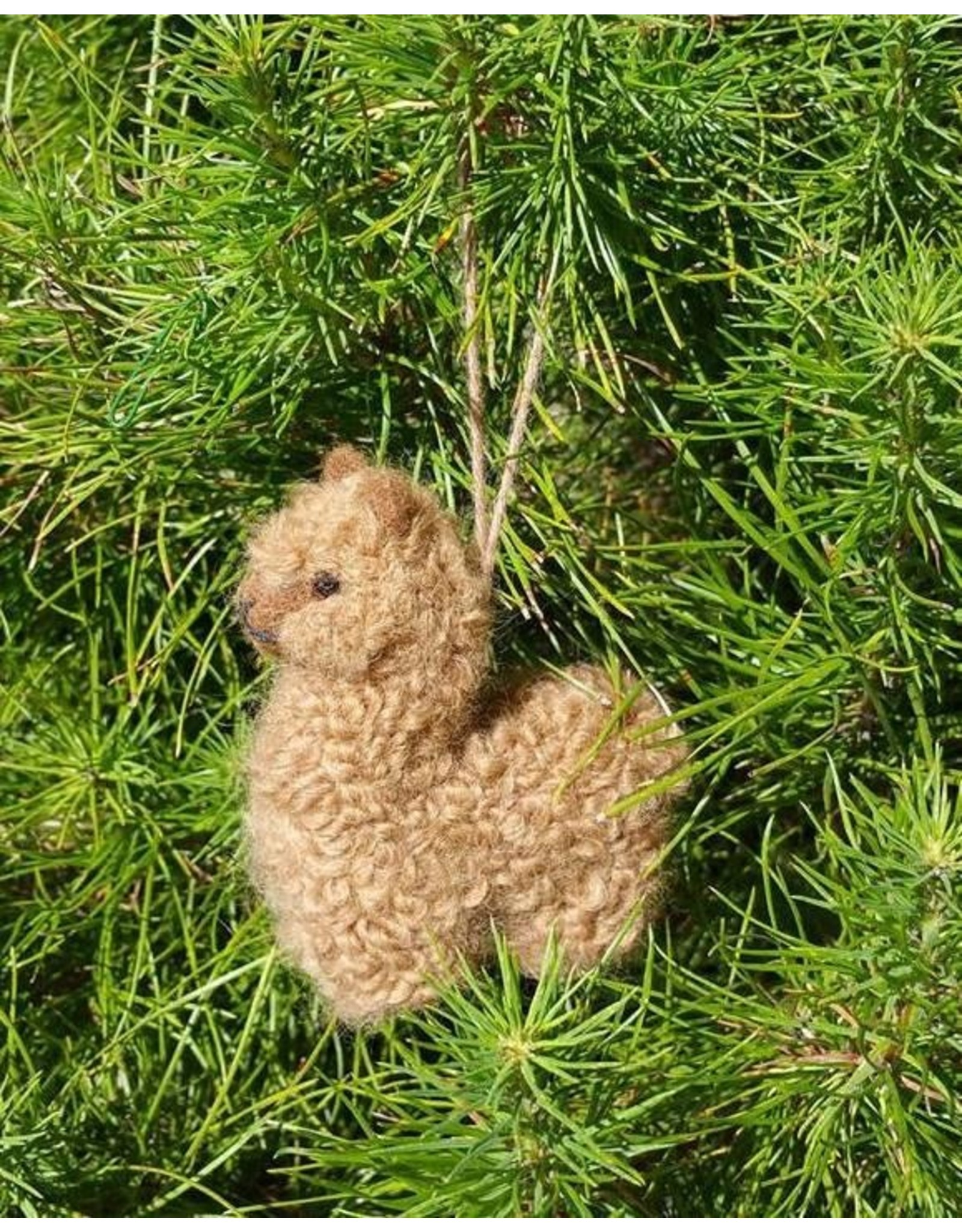 Alpacadorable handmade ornaments-5in/Brown