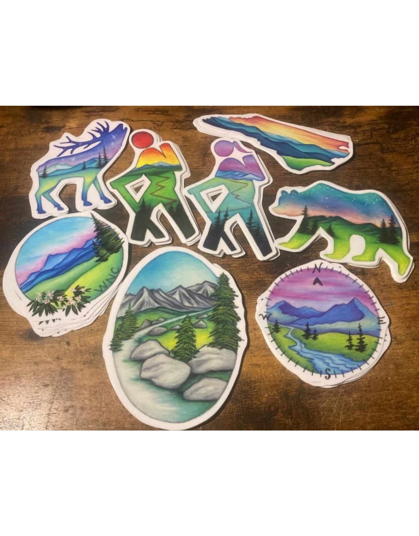 Wandering Arts and Crafts Variety Stickers