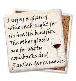 Enjoy A Glass of Wine Coaster