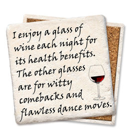 Tipsy Coasters and gifts Enjoy A Glass of Wine Coaster
