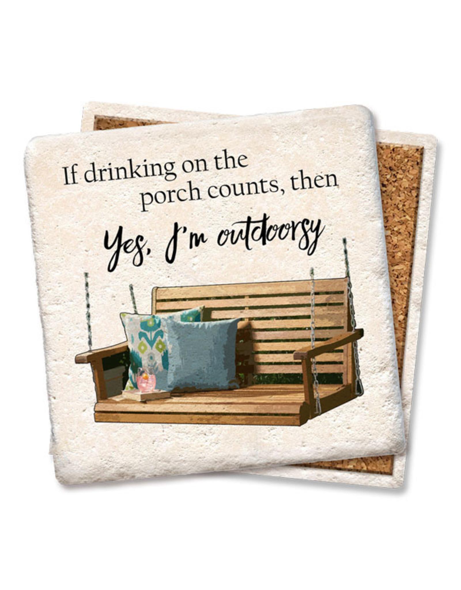 I'm Outdoorsy Coaster