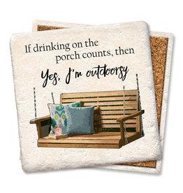 Tipsy Coasters and gifts I'm Outdoorsy Coaster