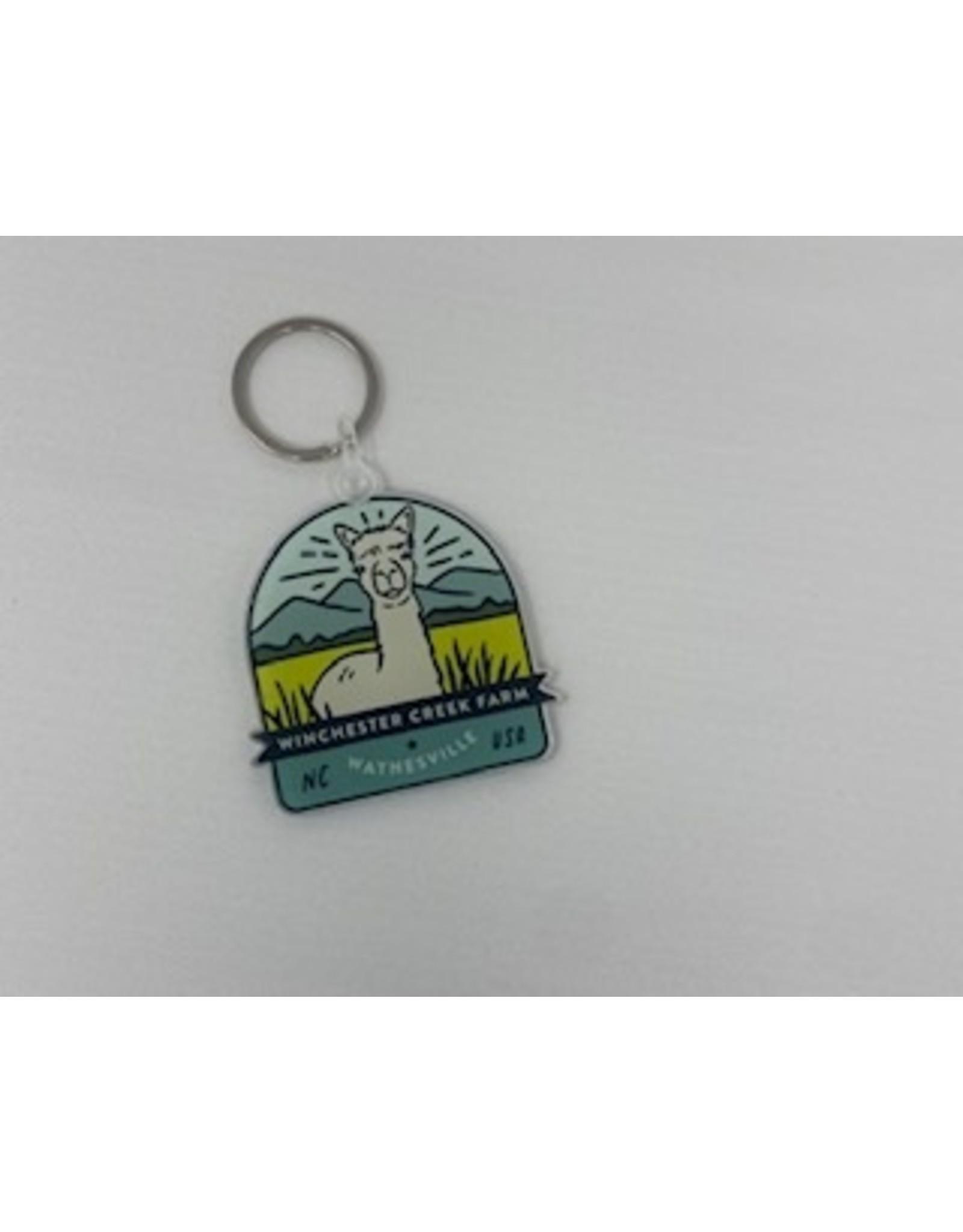 Sticker Mule Alpaca Keychain