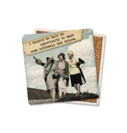 Tipsy Coasters and gifts Opportunity To Make Bad Choices Coaster