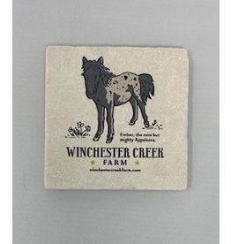 Tipsy Coasters and gifts Ember the Mighty Appaloosa Coaster