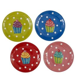 Cupcake Dessert Plates - Set of 4