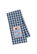 Rise & Shine Embroidered Dishtowel