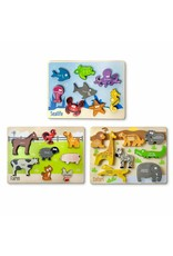 Chunky 6 Piece Animal Puzzle - 3 pack