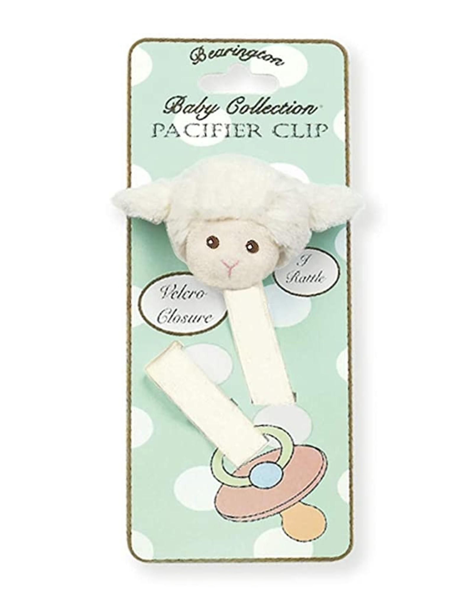 Lamby Lamb Pacifier Clip