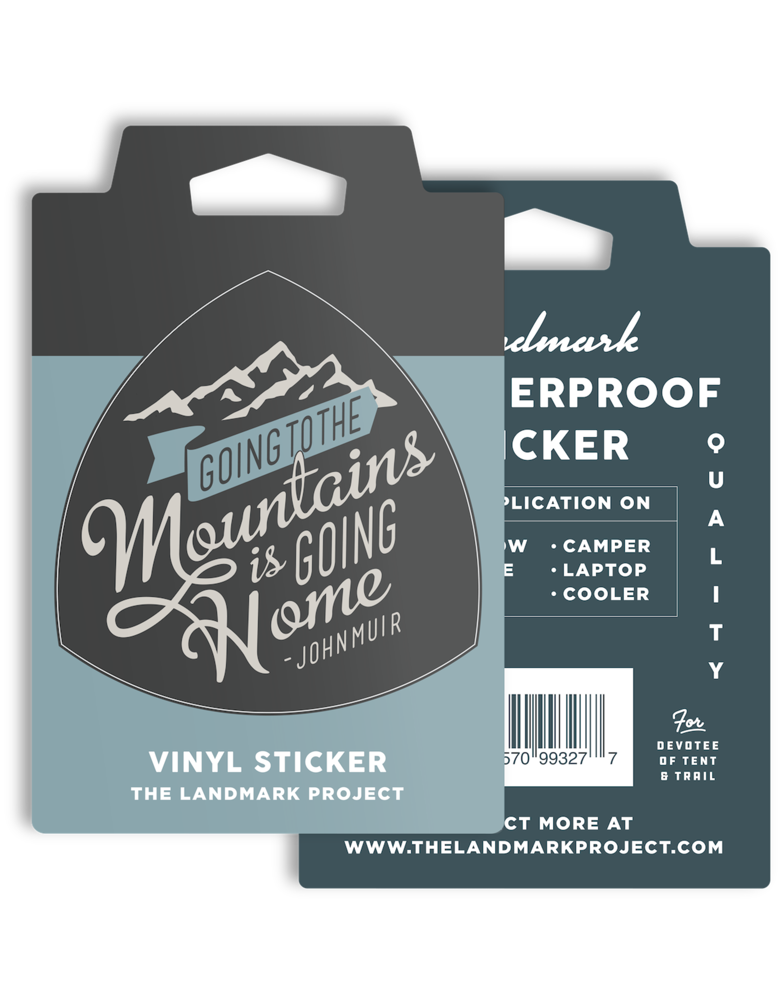 The Landmark Project Going To The Mountains - Sticker