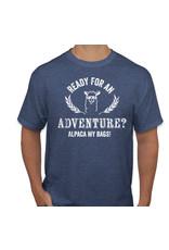 WCF Ready For An Adventure? Alpaca My Bags- Navy T-shirt