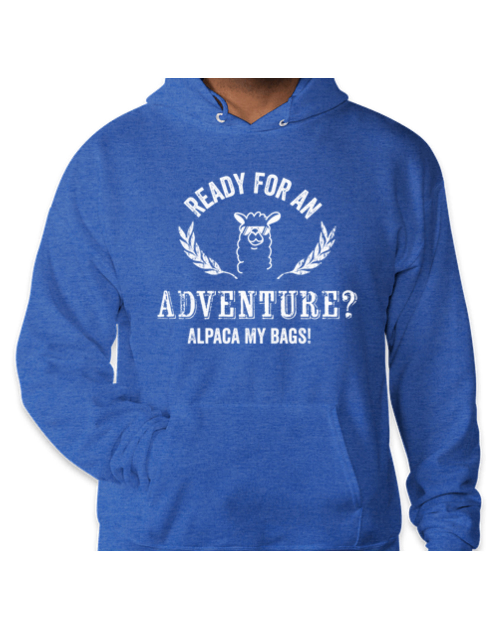 WCF Ready For An Adventure? Alpaca My Bags- Blue Pullover hoody