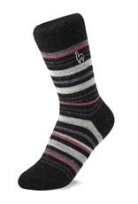 Shupaca Shupaca Striped Socks Medium Mauve
