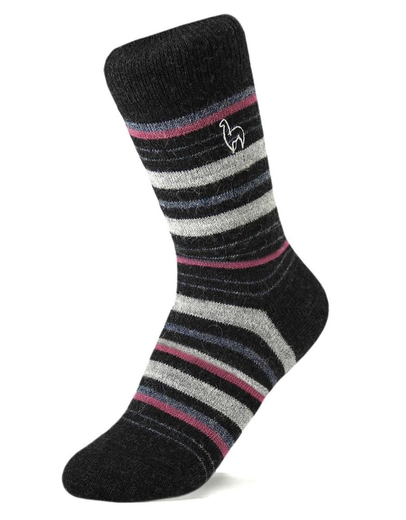 Shupaca Shupaca Striped Socks Small Mauve