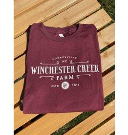 WCF Heather Cardinal Long sleeve